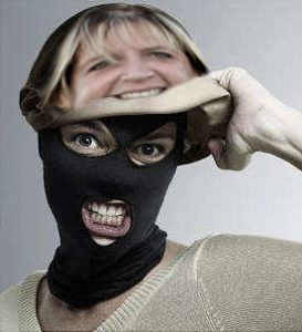 Tenley Myers Removing Mask