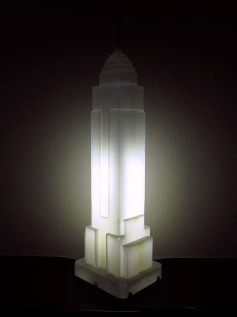 Tenley Myers Empire State Building Lamp.